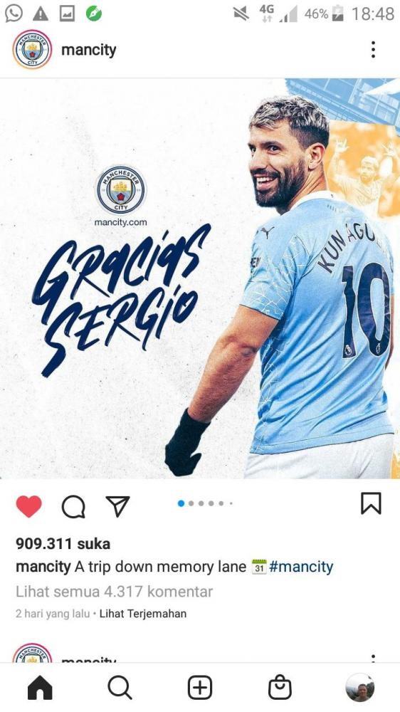 Terima kasih Sergio (Tangkap Layar-DokPri)