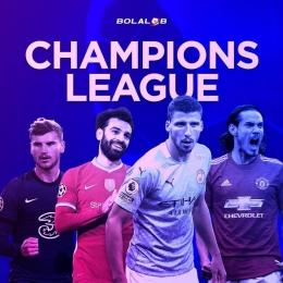 Ilustrasi empat tim Liga Inggris yang lolos Liga Champions Musim Depan. | Sumber: www.instagram.com/bolalobfootball