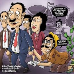 Animasi Kondisi Penambang Rakyat Akibat Revisi UU Minerba (sumber: https://www.facebook.com/WALHI/)