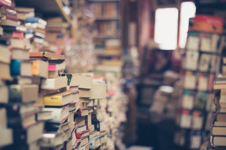 Semua tumpukan buku ini dan Anda bisa mengambilnya gratis karena pembajakan, namun apa konsekuensinya? (Eli Digital Creative/Pixabay)