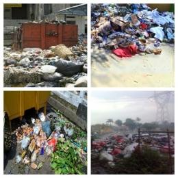 Manusia bumi masih saja membuang sampah sembarangan tanpa dipilah, sampah basah, kering dan B3 bercampur satu sama lain (foto dok pri).