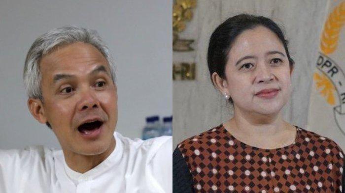 Foto Gubernur Jawa Tengah Ganjar Pranowo dan Ketua DPR RI Puan Maharani. Sumber: tribunnews.com