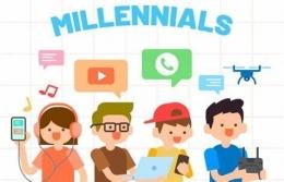 Ilustrasi keterlibatan Generasi Milenial di media sosial. Foto: monitor.co.id.