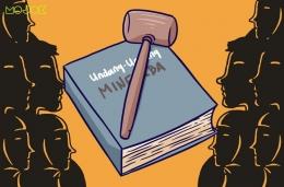 Animasi UU Minerba (sumber: mojok.co)