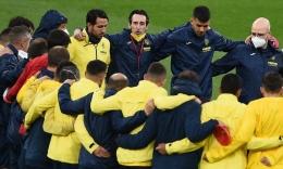 Unai Emery bersama skuad Villarreal (Foto Getty Images)
