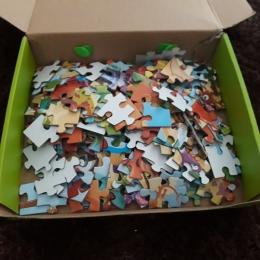 Salah satu puzzle jigsaw (180 keping) Mikhayla (Sumber: Dokumentasi pribadi Yunita Kristanti)