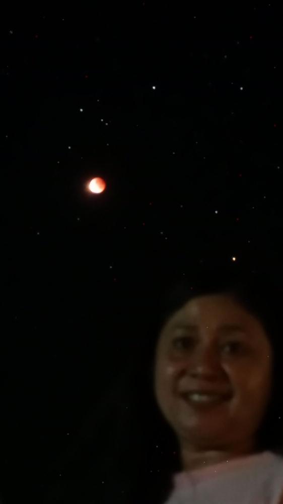 Foto saat gerhana bulan (dokpri)