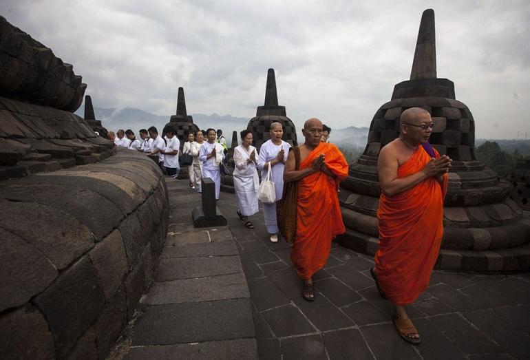 Perayaan Waisak di Candi Borobudur | Dok. ANTARA/Andreas Fitri Atmoko