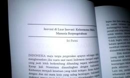 Ulasan sri patmi dalam buku mewujudkan Indonesia maju/foto: samhudi