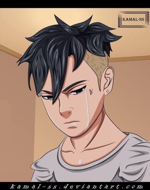 Kawaki yang meneteskan air mata setelah mendengar cerita masa kecil Naruto di anime Boruto episode 201