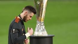 David de Gea gagal tendangan penaltinya sehingga membuat United kalah 10-11 dalam duel adu penalti di final Liga Eropa (Foto Skysports)