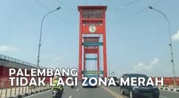 Dalam tempo sekitar dua minggu, Kota Palembang keluar dari zona merah. Strategi keroyokan, benar-benar ampuh. Menurut Kapolda Sumatera Selatan, Irjen Pol. Prof. DR. Eko Indra Heri, ini hasil kerja keras anggota dan semua unsur Polri, TNI, Pemda, dan stakeholder lainnya. Foto: erwin hadi