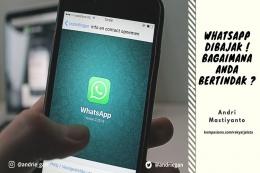 Deskripsi : WhatsApp Dibajak ! Bagaimana Anda Bertindak I Sumber foto : dokpri via canva