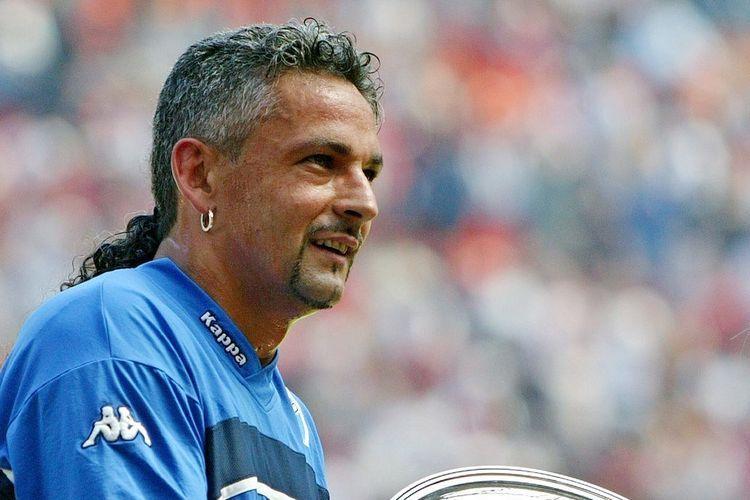 Roberto Baggio. Foto: AFP/ CARLO BARONCINI dipublikasikan kompas.com