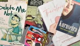 Novel-novel hasil 'mulung curhat' (Dokumentasi pribadi)