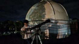 Mengarahkan ke Bulan di sebelah Tenggara (Dokumentasi Pribadi)