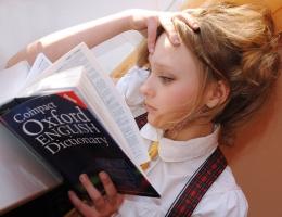 ilustrasi orang sedang membaca kamus bahasa Inggris | sumber gambar: pixabay.com
