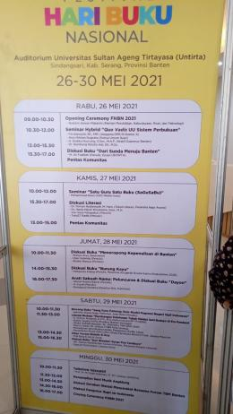 Jadwal Acara Festival Harbuknas 2021 (Dokpri)