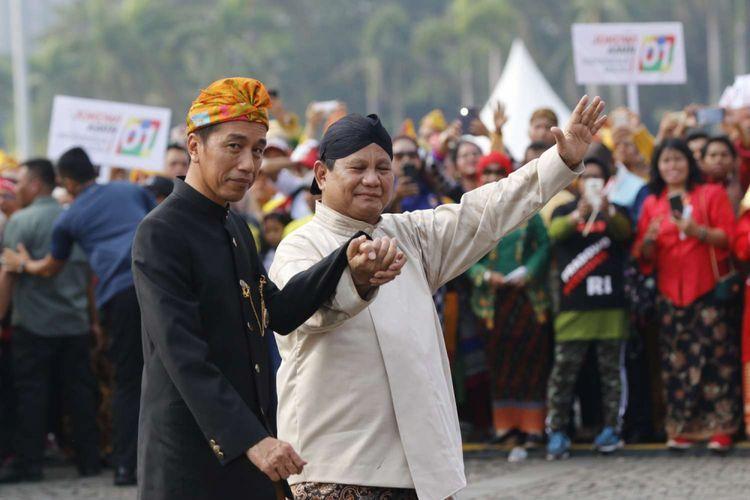 Jokowi dan Prabowo. Foto: KOMPAS.COM/Maulana Mahardika