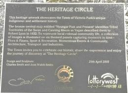 prasasti mengenai Herritage Circle(dok pribadi)