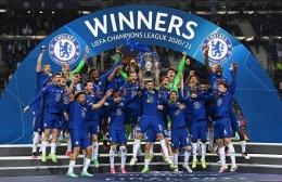 Chelsea merayakan kemenangan sebagai juara Liga Champions | Sumber: www.instagram.com/chelseafc