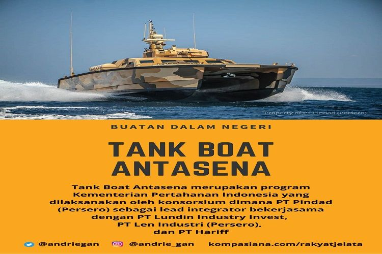 Deskripsi : Tank Boat Antasena menjadi yang pertama I Sumber foto : Pt.Pindad
