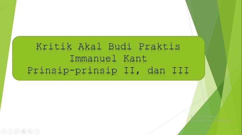 Kritik Akal Budi Praktis Kant    DOKPRI