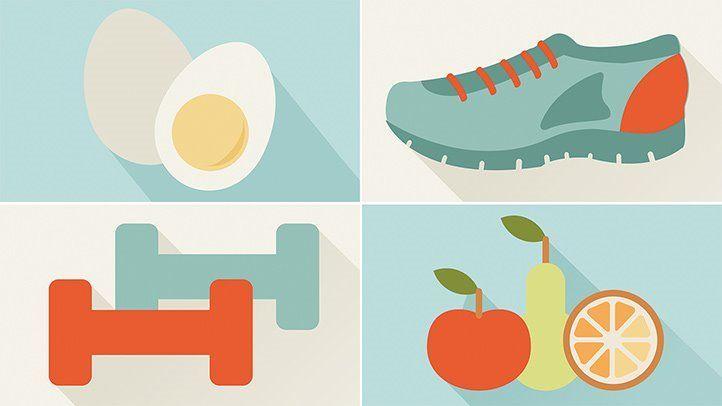 Ilustrasi Makanan dan Olahraga (Sumber : Shutterstock)