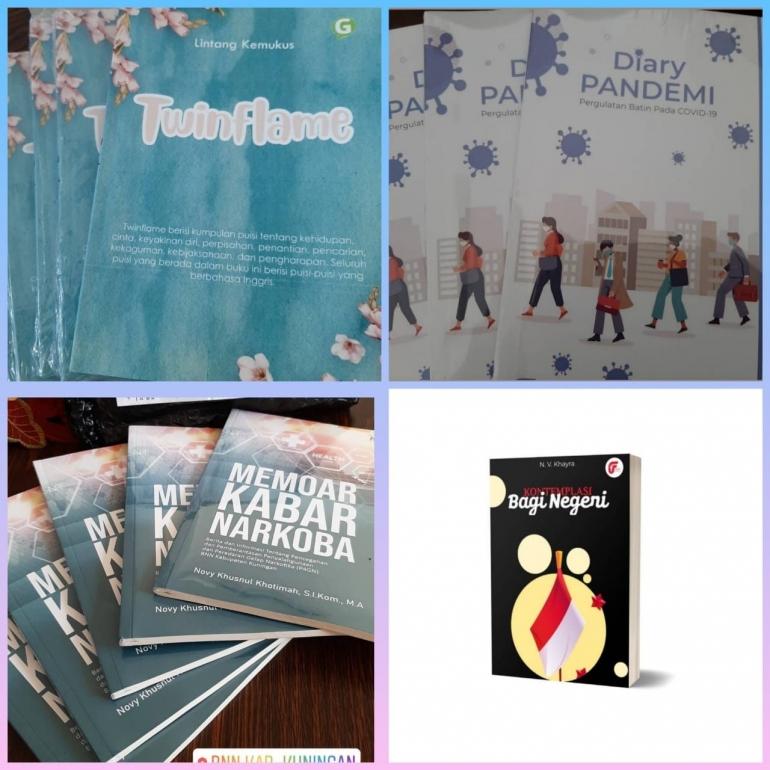 Beberapa buku yang telah saya terbitkan yang tidak sedikit berasal dari tulisan di kompasiana (sumber : dok.pribadi)