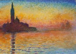 San Giorgio Maggiore at Dusk, Oscar-Claude Monet 1912