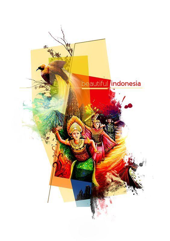 Indonesia, sebuah negeri pluralis (Sumber gambar: behance.net)