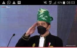Presiden Jokowi sebagai pemimpin upacara (Tangkap layar-DokPri)