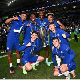 Para pemain bintang muda dari akademi Chelsea turut berperan dalam sumbangkan gelar Liga Champions 2021 (Foto: Instagram Chelsea).
