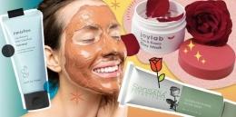 Ilustrasi pengaplikasian clay mask (sumber: cosmopolitan.co.id)