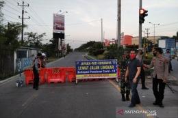 Akses masuk Kota Kudus sempat ditutup untuk tekan Covid19 (sumber gambar: antaranews.com)