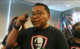 Ketua Umum Relawan Ganjarist, Madzo Pray saat ditemui di Hotel Neo+ Kebayoran, Jakarta Selatan, Selasa 1 Juni 2021. TEMPO/Putri