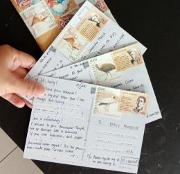 kartu pos yang siap dikirim | ilustrasi: dokumentasi pribadi