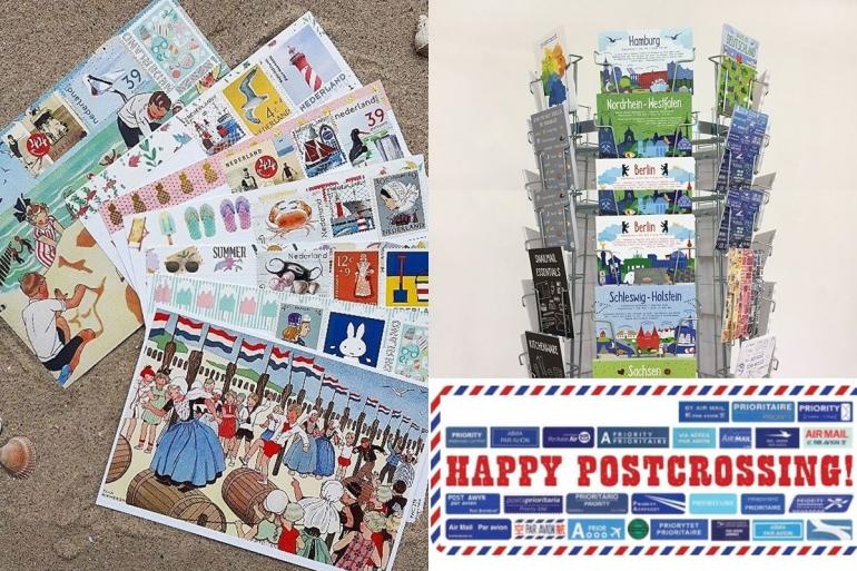Postcrossing dan kumpulan kartu pos | ilustrasi: www.postcrossing.com