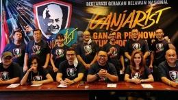 Relawan Ganjarist mendeklarasikan diri mendukung Gubernur Ganjar Pranowo sebagai calon presiden 2024 di Jakarta, Selasa (1/6/2021). (Foto: Dok. Ganjarist)