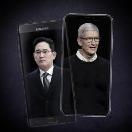ilustrasi Samsung vs Apple (Forbes)
