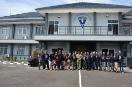 Komunitas Reenactor Bangor sedang berada di Kopaska dalam acara HUT Defile, Pondok Dayung, Jakarta