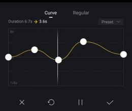 Kamu bisa atur cepat lambatnya speed di VN. Sumber : tangkapan layar VN