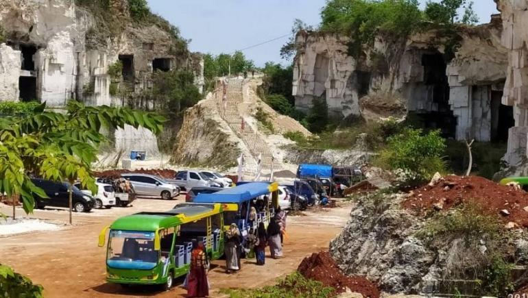 Salah satu view Wisata Alam Setigi Gresik (Sumber foto : jatimnow.com)