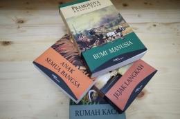 Tetralogi Buru karya Pramoedya Ananta Toer.(KOMPAS.com/ HERU MARGIANTO)