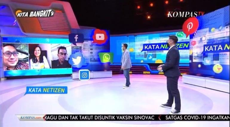 Tangkapan layar live streaming Kata Netizen KompasTV   dok. HennieTriana—
