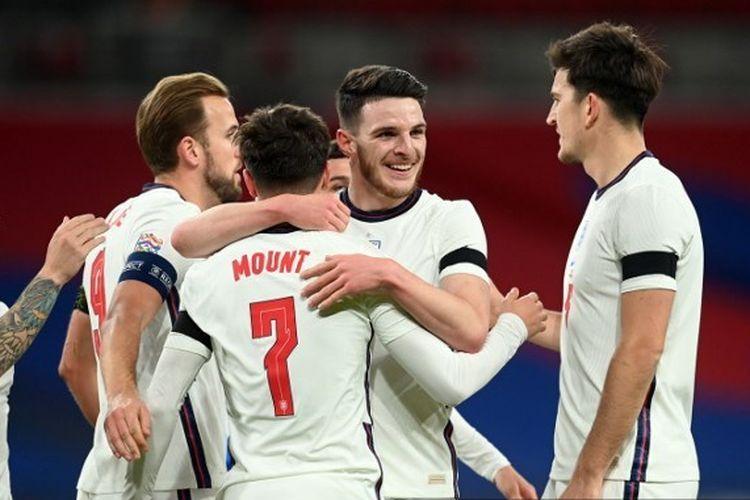 Inggris dipandang sebagai calon kuat di Piala Eropa 2020. Sumber foto: Michael Regan/AFP via Kompas.com