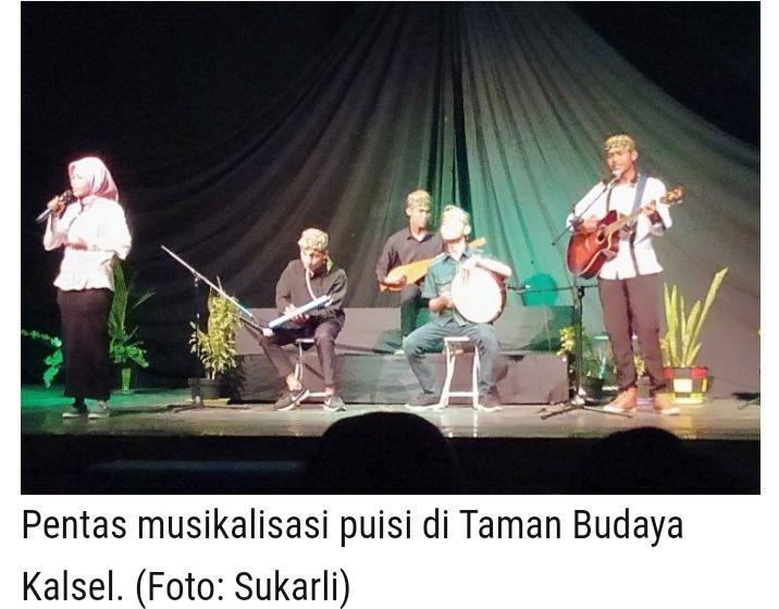 Ilustrasi profesional musikalisasi puisi: Sukarli (kalsel.antaranews.com)