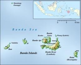 Peta Kepulauan Banda. Sumber: Lencer / wikimedia