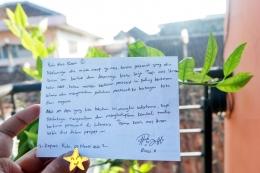 Pesan dari seorang rekan blogger asal Kalimantan. - Dokumen Pribadi