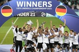 Foto kemenangan U-21 Timnas Jerman. Sumber : DFB Team